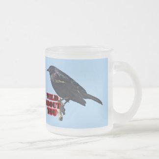 Redwing Blackbird Glass Mug