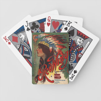 Redwing Mills Native American in head dress Bicycle Playing Cards