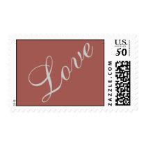 Redwood Attractive Script Love Wedding Postage