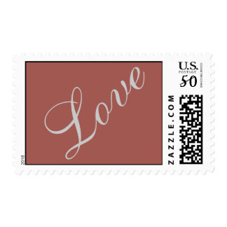 Redwood Attractive Script Love Wedding Postage
