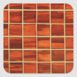 Redwood Bathroom Tiling Background Square Stickers