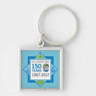 Redwood City 150th Anniversary Keychain