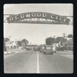 """Redwood City 150th Anniversary Stone Coaster<br><div class=""""desc"""">Happy 150th anniversary Redwood City! This is a year to celebrate the best of Redwood City. The City of Redwood City will be hosting a series of sesquicentennial events that will bring together our community, rediscover our history, honor our diversity and explore our neighborhoods. This store is a marketplace to...</div>"""