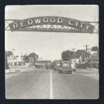 "Redwood City 150th Anniversary Stone Coaster<br><div class=""desc"">Happy 150th anniversary Redwood City! This is a year to celebrate the best of Redwood City. The City of Redwood City will be hosting a series of sesquicentennial events that will bring together our community, rediscover our history, honor our diversity and explore our neighborhoods. This store is a marketplace to...</div>"