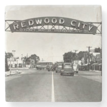 Redwood City 150th Anniversary Stone Coaster