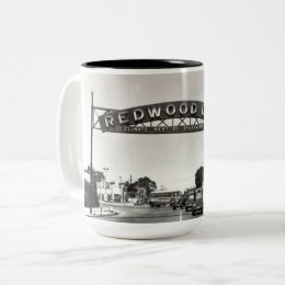 Redwood City 150th Anniversary Two-Tone Coffee Mug