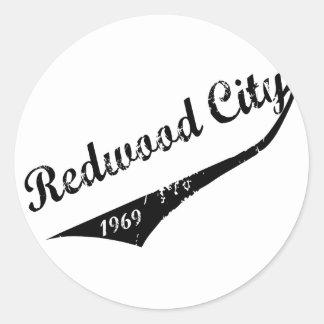 Redwood City 1969 Classic Round Sticker