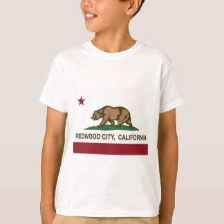 redwood city california flag T-Shirt