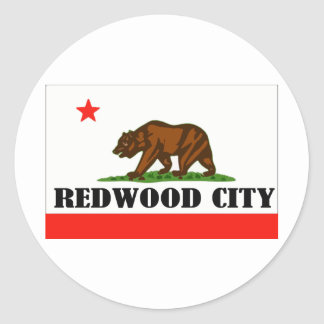 Redwood City, California -- Products Classic Round Sticker