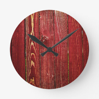 redwood round wallclock