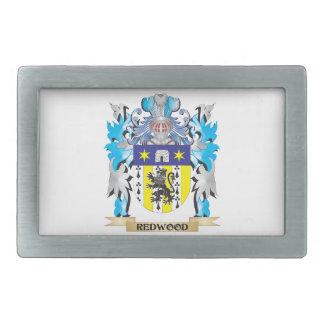 Redwood Coat of Arms - Family Crest Rectangular Belt Buckle