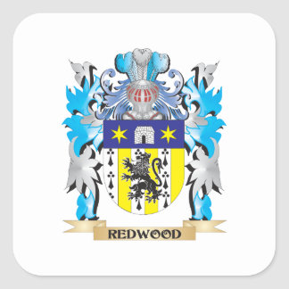 Redwood Coat of Arms - Family Crest Square Sticker