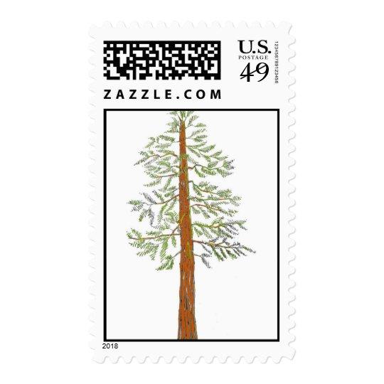redwood color postage