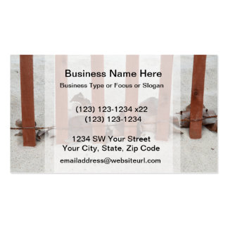 redwood fence sea grape leaves sand image Double-Sided standard business cards (Pack of 100)