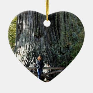 Redwood Forest Ceramic Ornament
