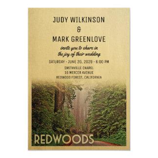 Redwood Forest Wedding Invitation Humboldt County