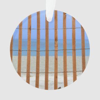 redwood lathe fence beach background