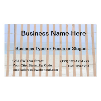 redwood lathe fence beach background Double-Sided standard business cards (Pack of 100)