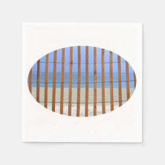 redwood lathe fence beach background paper napkins