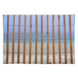 redwood lathe fence beach background placemat
