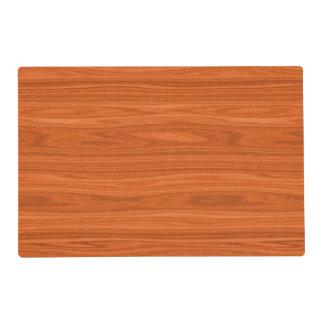 Redwood Look Decorative Laminated Placemat