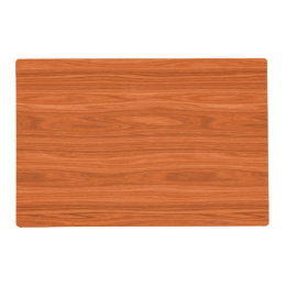 Redwood Look Decorative Placemat