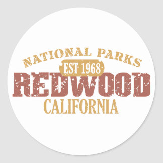 Redwood National Park Classic Round Sticker