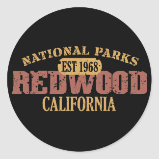 Redwood National Park Classic Round Sticker