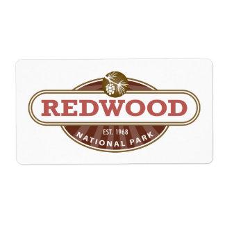 Redwood National Park Label