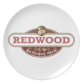 Redwood National Park Melamine Plate
