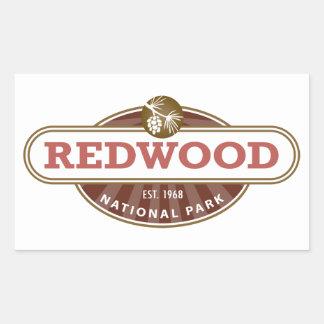 Redwood National Park Rectangular Sticker