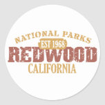 Redwood National Park Round Stickers