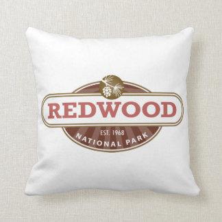 Redwood National Park Throw Pillow