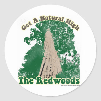 Redwood Natural High Round Stickers