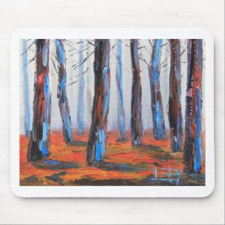 Redwood Original Painting, California Trees Mouse Pad