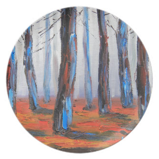 Redwood Original Painting, California Trees Plate