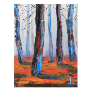 Redwood Original Painting, California Trees Postcard