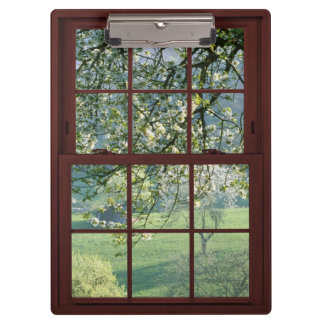 Redwood Picture Window - Cherry Blossom Scene Clipboard
