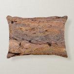 Redwood Tree Bark Accent Pillow