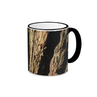 Redwood Tree Bark Ringer Coffee Mug