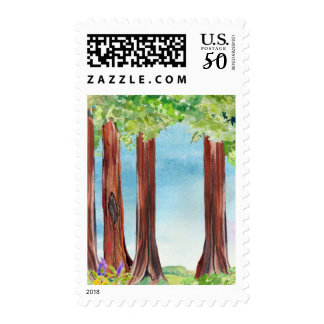 Redwood Tree Stamp