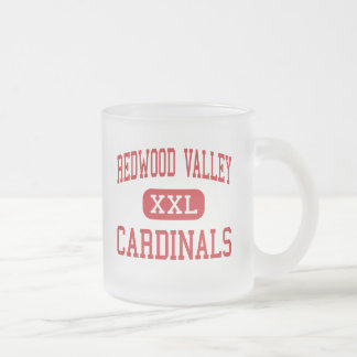 Redwood Valley - Cardinals - Redwood Falls 10 Oz Frosted Glass Coffee Mug