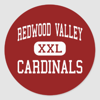 Redwood Valley - Cardinals - Redwood Falls Classic Round Sticker