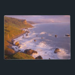 "Redwoods coastline, California Placemat<br><div class=""desc"">USA,  California,  Redwood National and State Parks,  View south along coastline from High Bluff Overlook towards Split Rock. 