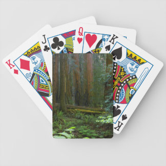 Redwoods In Muir Woods National Park Bicycle Playing Cards