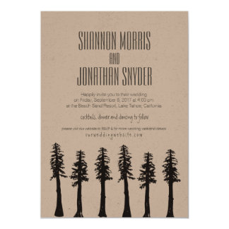 Redwoods Invitation Mountain Lake Wedding Event