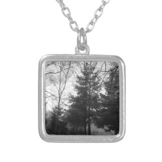 Redwoods Series #1: Hazy Morning Silver Plated Necklace