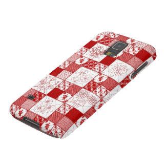 Redwork Floral Quilt Samsung Galaxy s5 Case