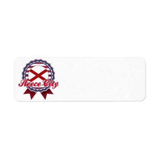 Reece City, AL Return Address Label