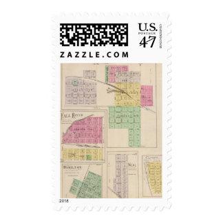 Reece, Fall River, Hamilton, and Climax, Kansas Postage
